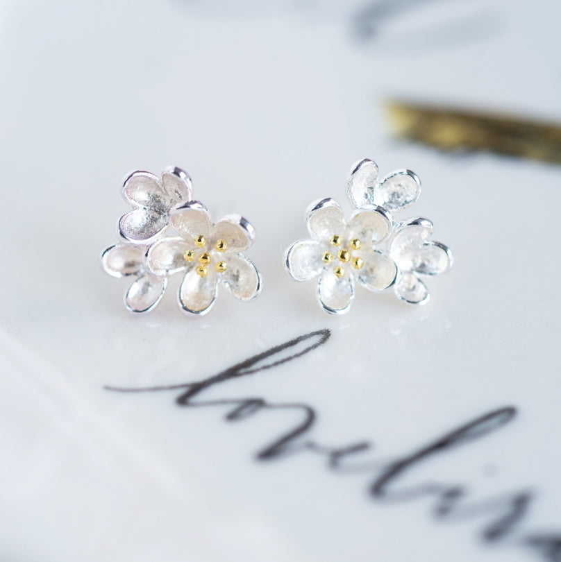 Sterling Posie Earrings
