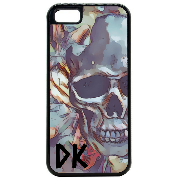 Initial Skull Art Phone Case