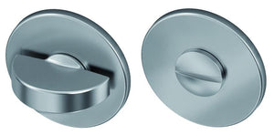 WC garnituur RVS Plano rond rozet 55 mm per set