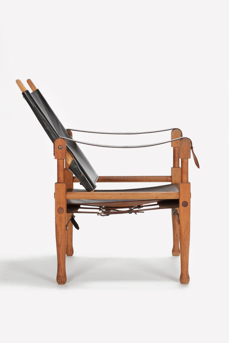 Wilhelm Kienzle Safari Chair, Leder, 50er