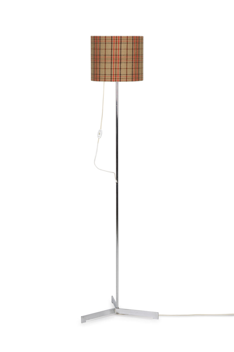 Adjustable lamp with checked Pattern lampshade, 60s