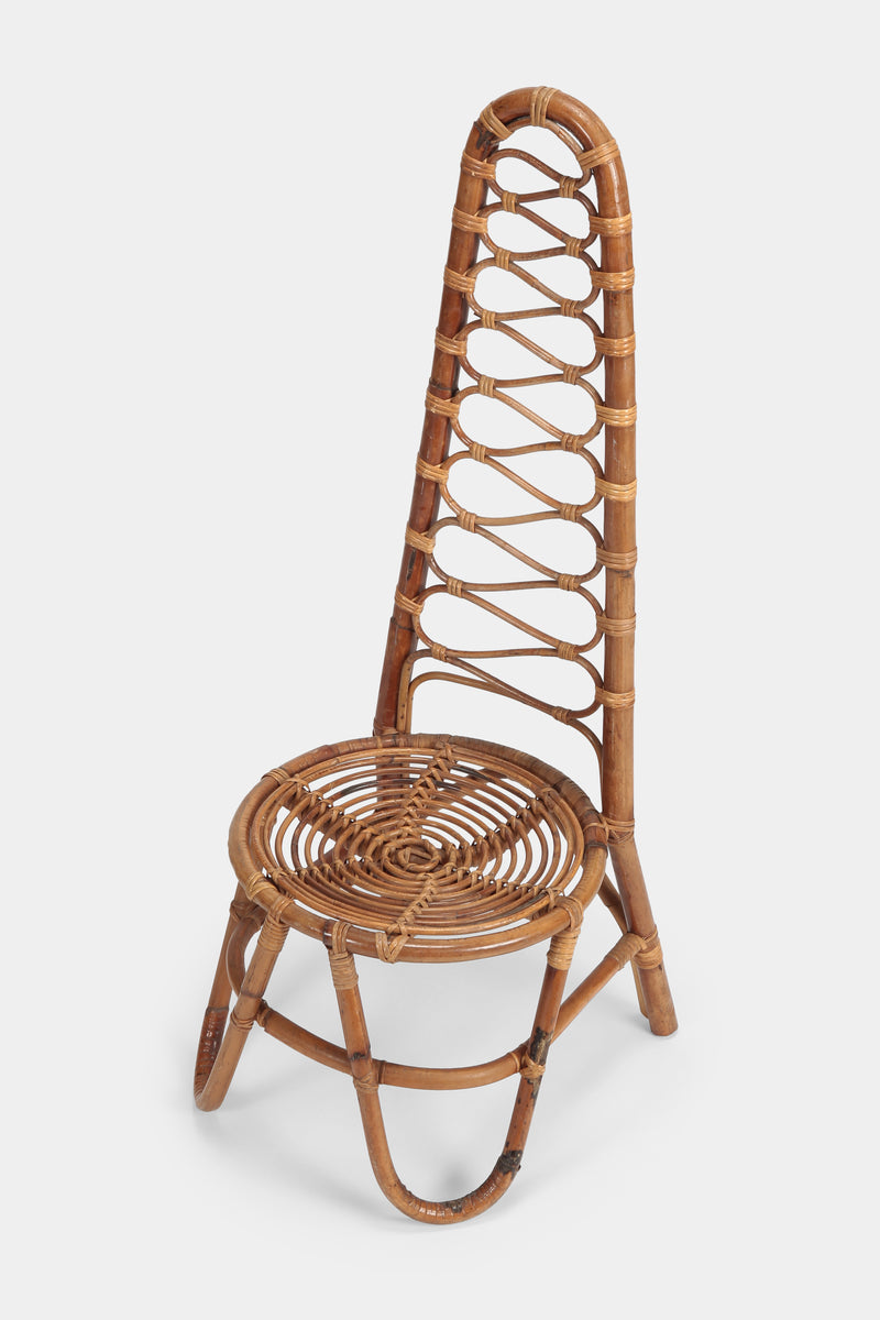 Bamboo Highback Chair Italy, 70s