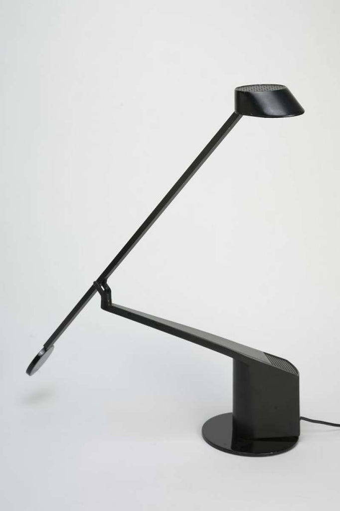 Black Italian Desk Lamp von Roldofo Bonetto