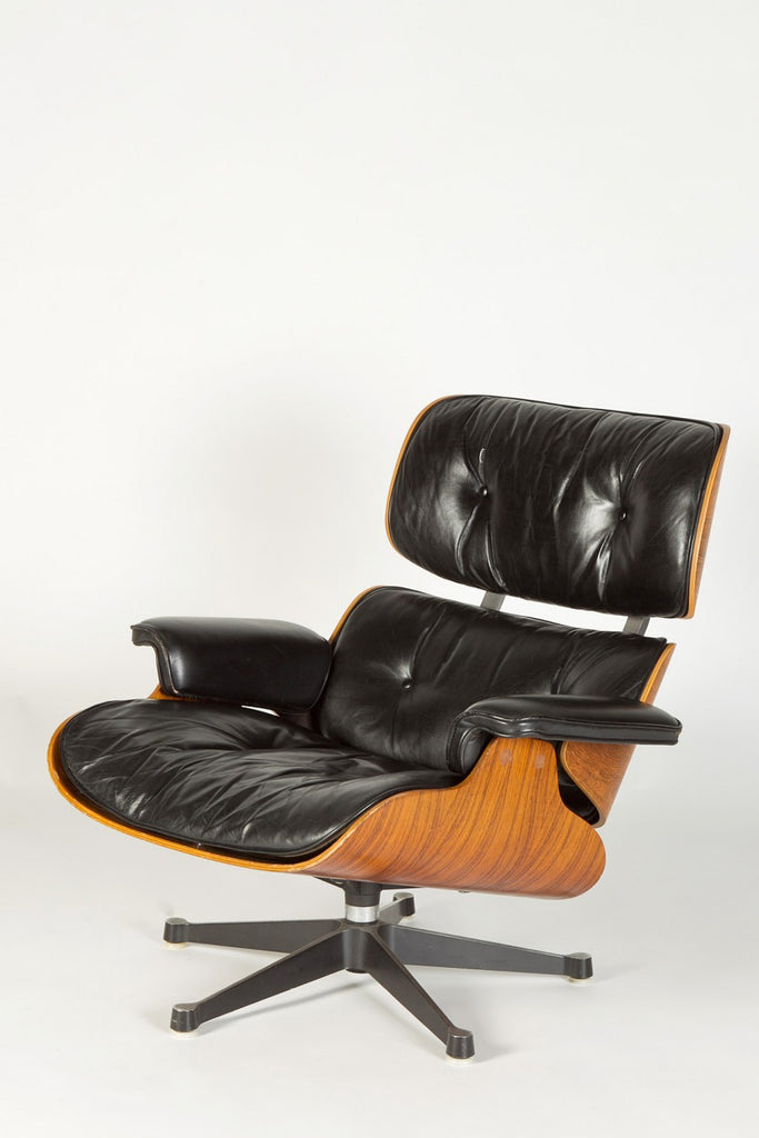 Eames Lounge Chair Palissander Leder von Charles and Ray Eames