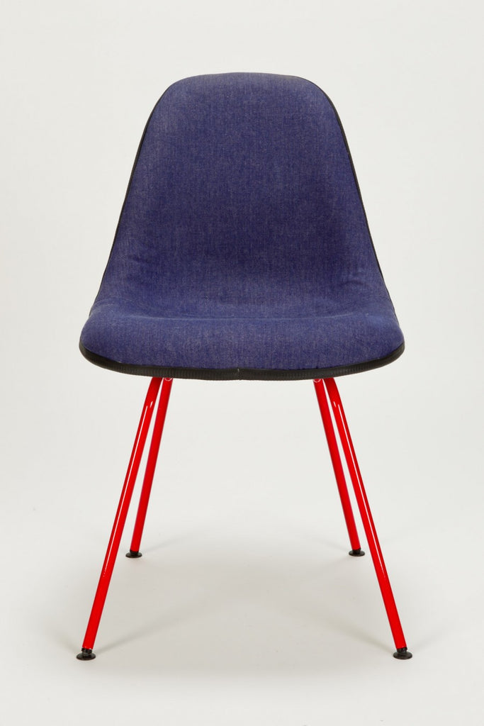 Jeans Eames Side Chair von Charles & Ray Eames/Reha Okay