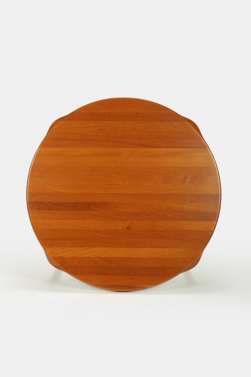 John Bone round table, teak, 60s