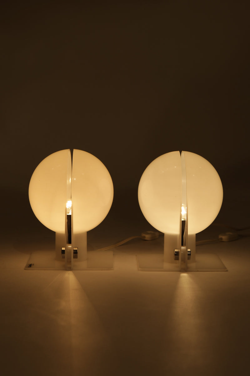 Pair Sirio Table Lamps Sergio Brazzoli iGuzzini, 70s