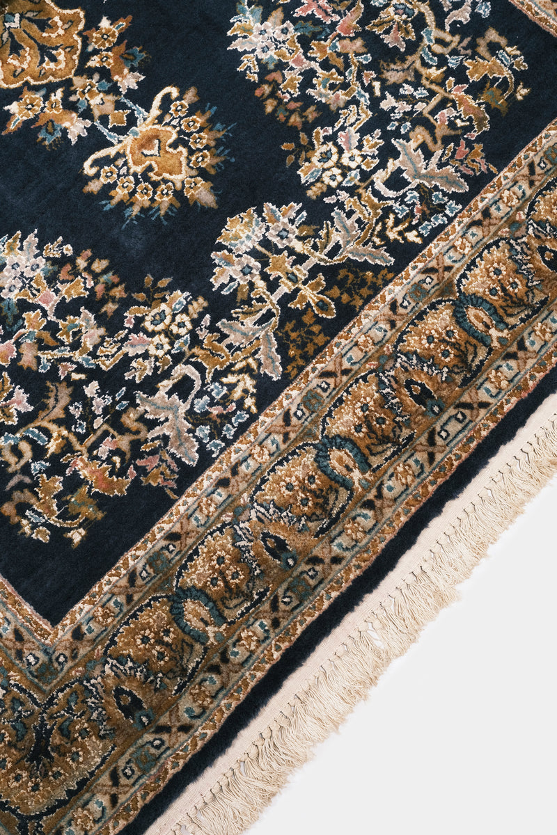 Carpet blue Kashmir with Silk India