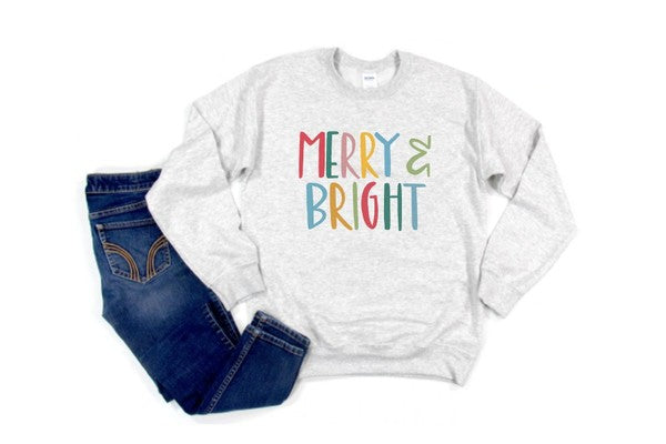 MERRY + BRIGHT (Sweatshirt)