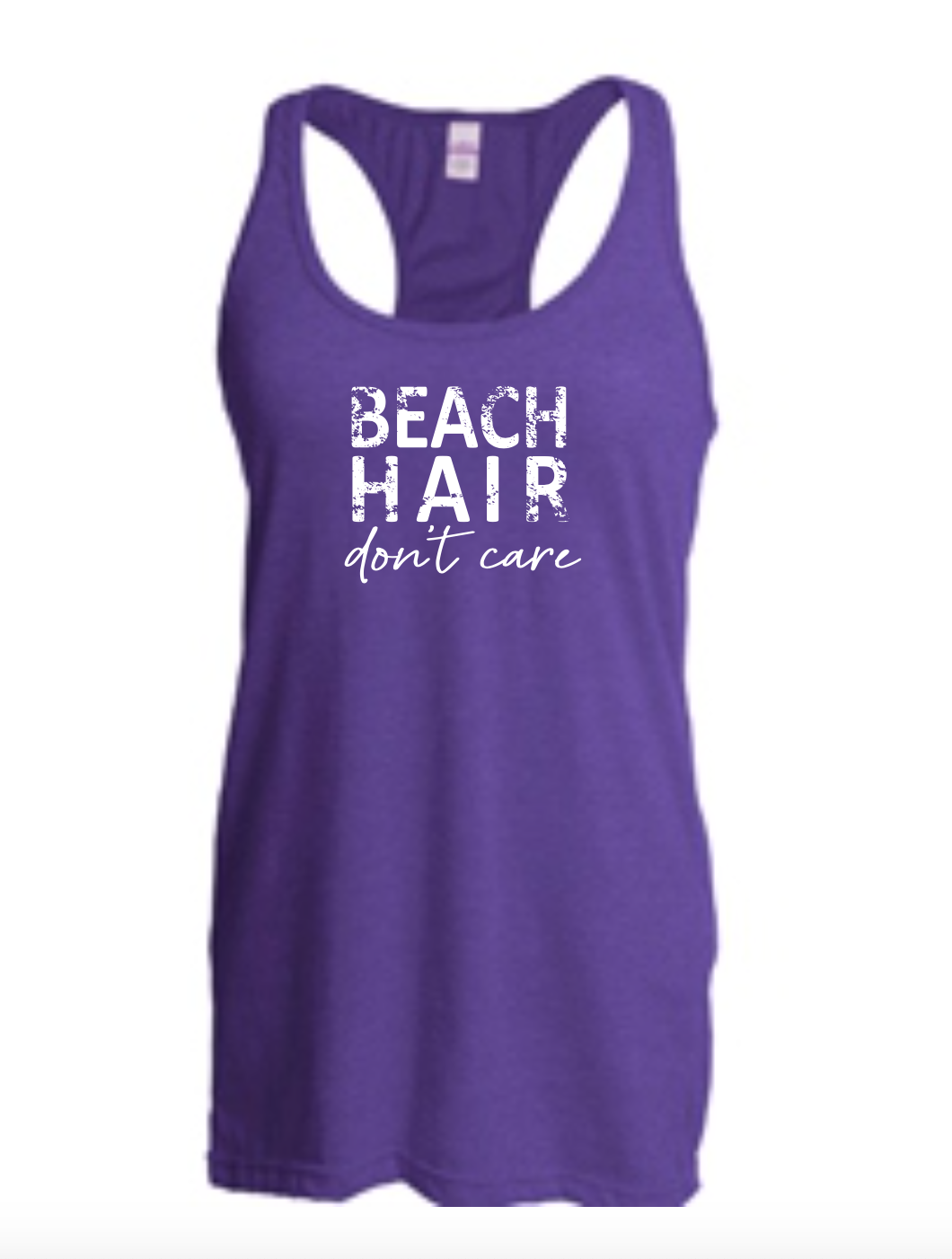 Beach Hair Don't Care (Racerback Tank)
