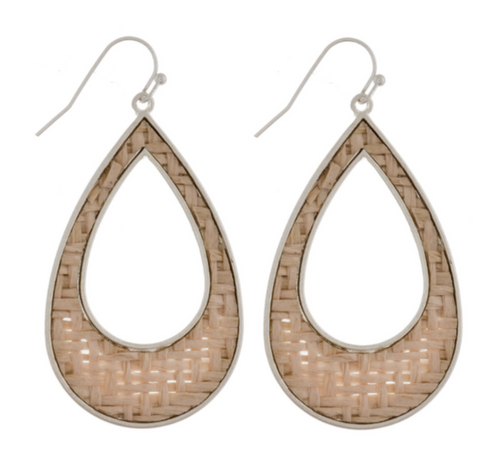 ABA Basket Weave Teardrop Earrings
