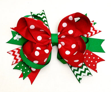 Christmas Hair Bow (4 inches)
