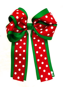 Christmas Hair Bow (6 inches)