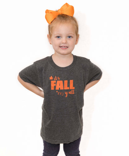 Fall Y'all (Kids Gray Crew)