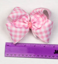 Load image into Gallery viewer, Gingham Hair Bow