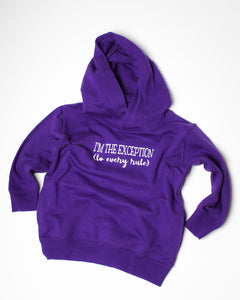 I'm the Exception to Every Rule (Youth Hoodie)