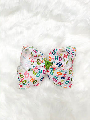 HO HO HO Christmas - Hair Bow