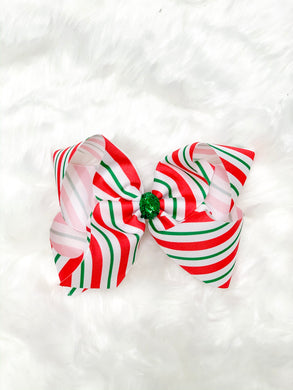 Candy Cane - Hair Bow