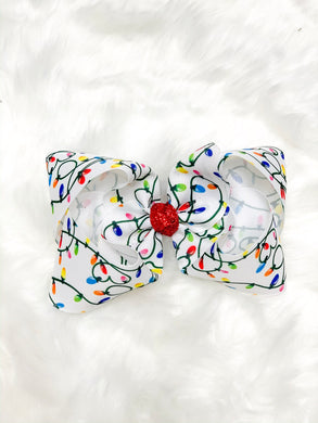 Christmas Lights - Hair Bow
