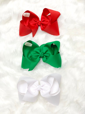 Christmas Solid - Hair Bow