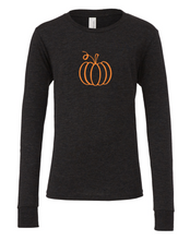 Load image into Gallery viewer, Pumpkin Outline (Kids Long Sleeve)