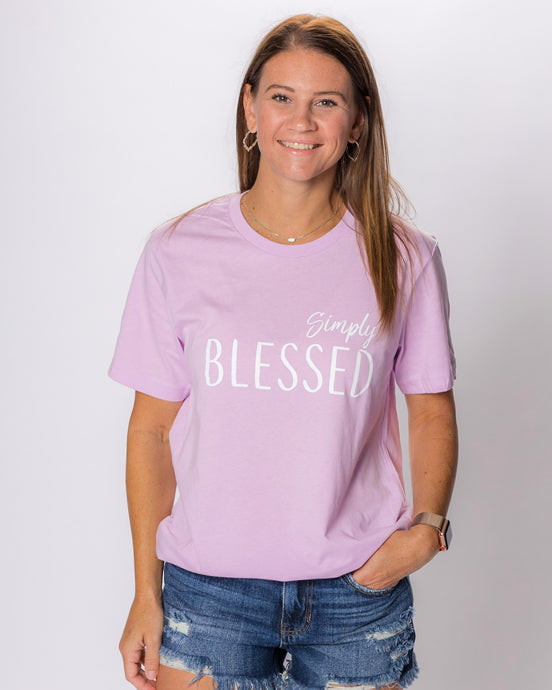 Simply Blessed (Lilac Unisex Crew)