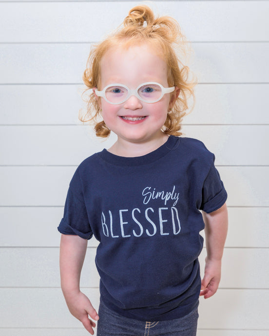 Simply Blessed (Kids Navy Crew)