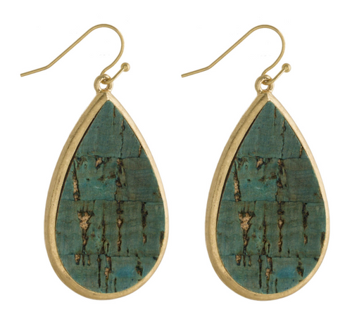 HAZE Teardrop Cork Earrings