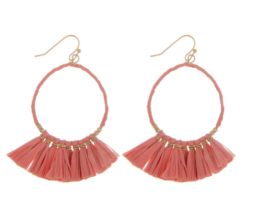 LU Tassel Hoop Earrings