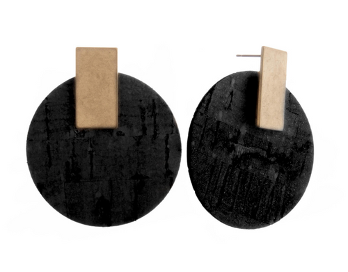 BLB Large Cork Post Earrings