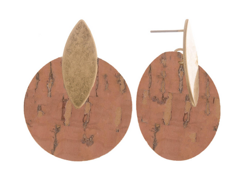 BLB Small Cork Post Earrings
