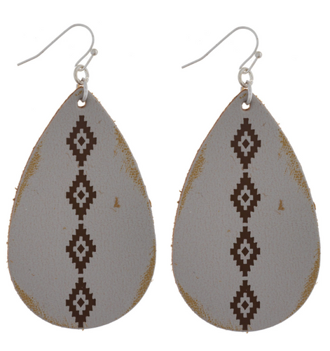 PK Diamond Pattern Earrings - 2.5 inch