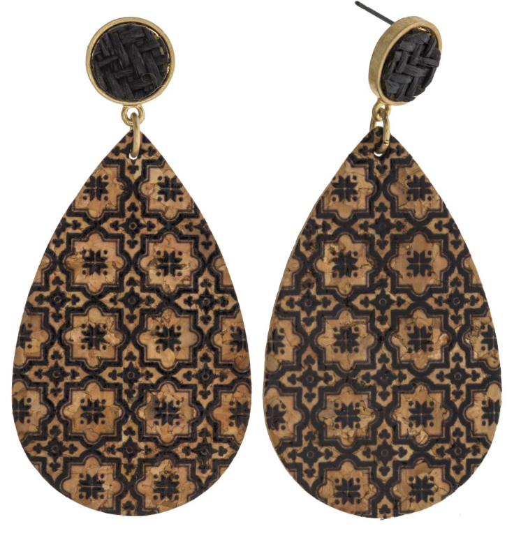 Geometric Cork Earrings