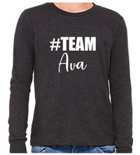 Load image into Gallery viewer, #Team Ava (Youth Long Sleeve)