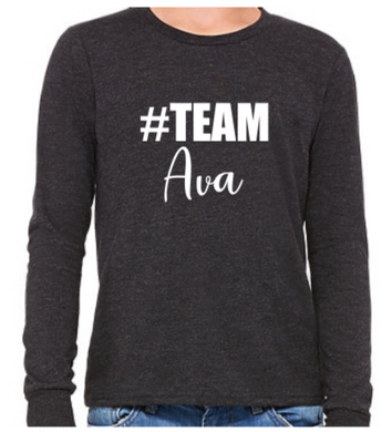 #Team Ava (Youth Long Sleeve)