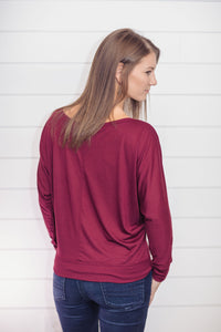 Thankful Pumpkin (Maroon Flowy Tee)