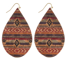 Load image into Gallery viewer, Tribal Cork Earrings