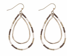 Load image into Gallery viewer, Teardrop Beaded Earrings