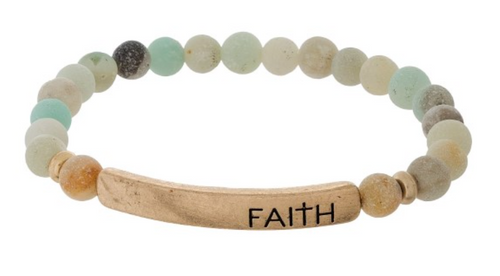 Faith - Beaded Bracelet