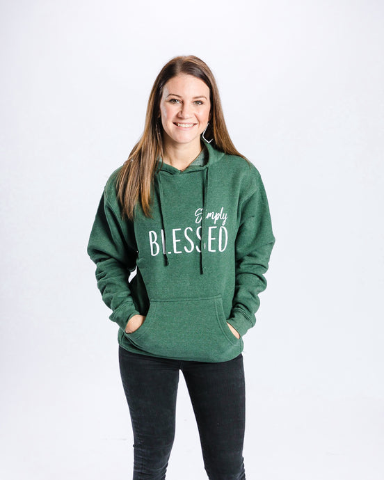Simply Blessed Hoodie - Green