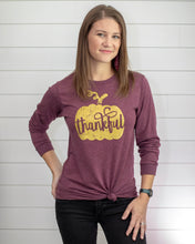 Load image into Gallery viewer, Thankful Pumpkin (PURPLE Long Sleeve Crew)