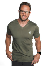 Load image into Gallery viewer, Buzz World Logo (Olive V-Neck)