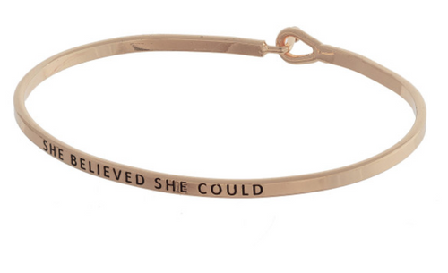She Believed She Could - Bracelet