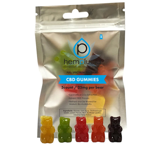 GUMMY EDIBLES - 5count / 25mg per bear