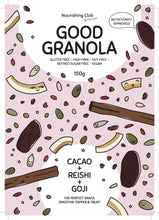 Load image into Gallery viewer, GOOD GRANOLA: CACAO, REISHI + GOJI 180g