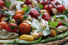 Load image into Gallery viewer, ROASTED VEGETABLE + PESTO CELEBRATION TART