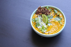 WEEKLY SOUP: CARROT, TURMERIC, COCONUT, LIME + LENTIL