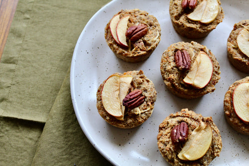 SPICED CARROT, APPLE + PECAN MUFFINS