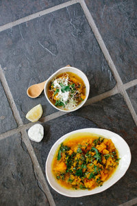 WEEKLY SOUP: PUMPKIN, LENTIL, MISO, LEMON + HERB