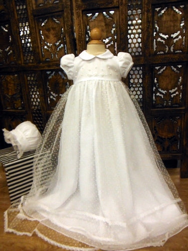 DOT CHRISTENING GOWN with Bonnet
